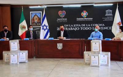 Embajada de Israel dona 15 mil cubrebocas a Zacatecas