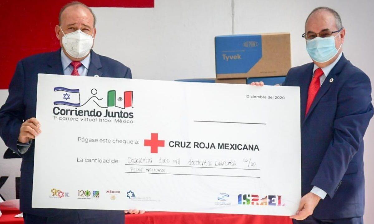 """""""Corriendo Juntos Israel México"""": carrera virtual para apoyar a la Cruz Roja Mexicana"""